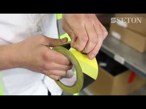 How to apply Aisle Marking and Barricade Tape | Seton UK