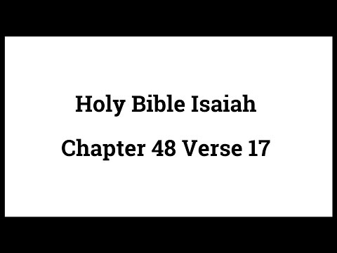 Holy Bible Isaiah 48:17