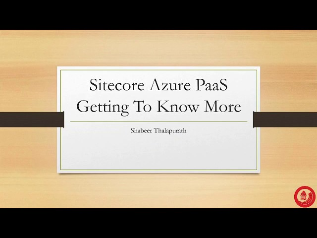 Sitecore on Azure PaaS