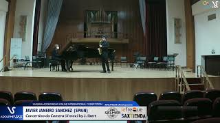 Javier JANEIRO SANCHEZ plays Concertino da camera by J. Ibert #adolphesax