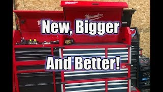 "New Milwaukee 46"" 18-Drawer High Capacity Tool Chest and Cabinet Combo 