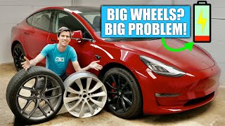 Why Big Wheels Are A Bad Idea On Electric Cars - Range Impact!