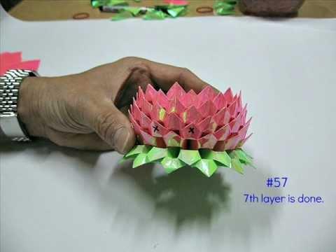 Eine einfache Origami Lotosblüte basteln: 14 Schritte (mit Bildern ... | 360x480