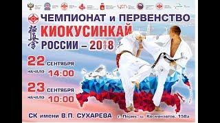 Чемпионат и первенство России по киокусинкай 2018. Финалы