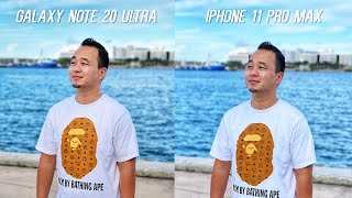 Samsung Galaxy Note20 Ultra vs Apple iPhone 11 Pro Max Camera Test Comparison!