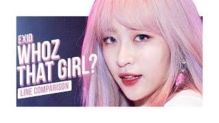EXID - Whoz That Girl : Line Comparison : OT6 vs OT5