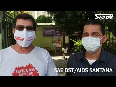 Dirigente do Sindsep Vlamir Lima e o conselheiro da Supervisão Técnica de Santana visitam unidades de saúde na Zona Norte e falam sobre o processo de remoção