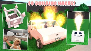 10 NEW UPDATE Bloxburg Building HACKS And Tricks! *Bouncy Castle Bed* (Roblox)