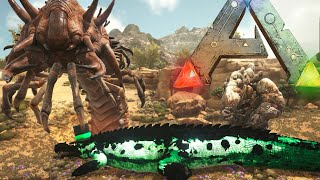ARK: Scorched Earth - SCORCHED EARTH CREATURES VS WARDENS, MANTICORE (Scorched Earth Gameplay)