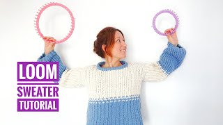 How to Loom Knit a Winter Sweater (DIY Tutorial)
