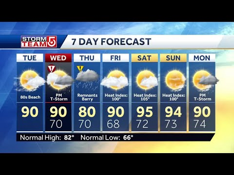 Video: Remnants of Barry to bring rain