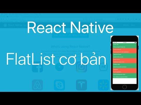 17-FlatList#1.Tạo một danh sách với FlatList trong React Native