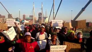 """Hands off our bodies"" protesters occupy Nelson Mandela bridge"