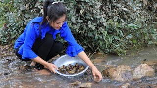 Snail Recipe - Snail Curry Recipe - Spicy Snail cooking by countryside life TV.