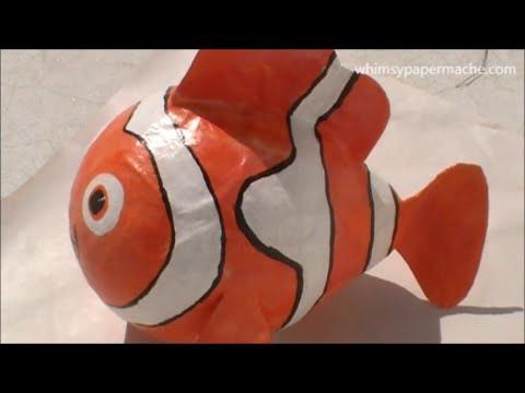 Video How to Make a  Paper Mache Nemo Clown Fish