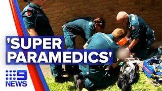 Elite paramedics perform medical procedures on the road   Nine News Australia