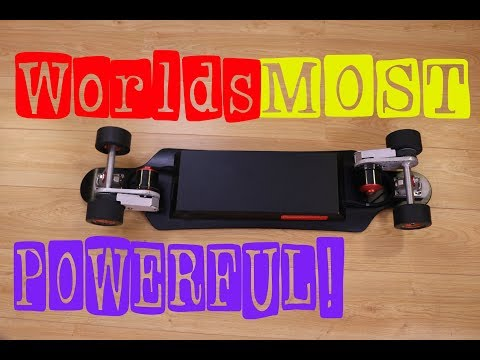 Worlds Most Powerful Production Electric Skateboard!