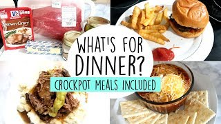 WHAT'S FOR DINNER | WEEK OF MEALS | EASY DINNER IDEAS & CROCKPOT MEALS