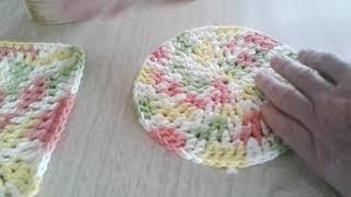 Crochet Cotton Circle; Dishcloth, Hotpad, Coaster, Multi Use