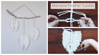 How To Make A Macrame Feather Wall Hanging - Tutorial For Beginners