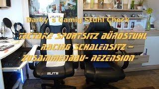 TecTake Sportsitz Bürostuhl  Schalensitz – Zusammenbau- Rezension