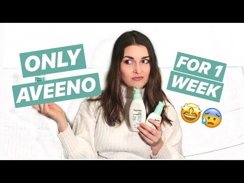 USING ONLY AVEENO SKINCARE FOR 1 WEEK (worst face mask ever)