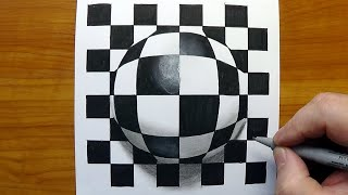 Op-Art Pop-Art - Patterns On The Sphere -  #StayHome And Draw #WithMe