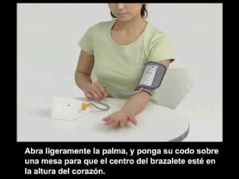 Uso correcto de un monitor de presion arterial de brazo