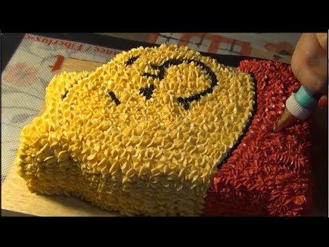 Как сделать детский торт Винни Пух из крема