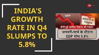 India's GDP growth rate slumps to 5.8% in fourth quarter