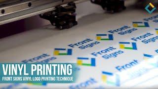 Vinyl Printing: Front Signs Vinyl logo printing technique