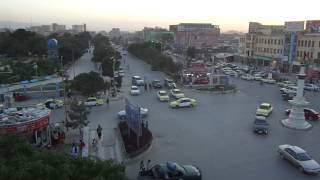 preview picture of video 'Sunset over Mazar-e Sharif city center, Afghanistan - part 2'