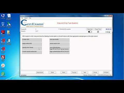 Cisco CCNA Practice Exam Questions by CertExams - YouTube