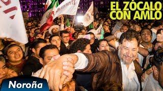 Noroña Celebra triunfo de AMLO en el Zócalo