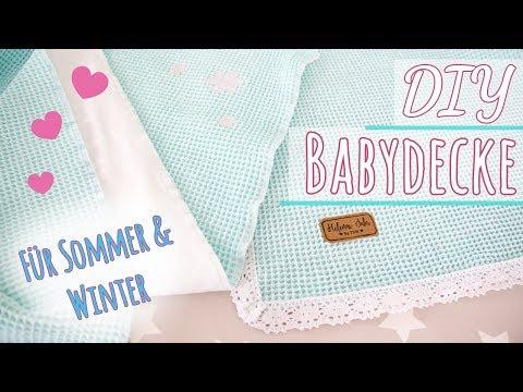 DIY BABYDECKE NÄHEN / Waffelpique für Sommer und Winter