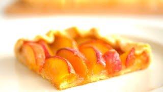 Пирог с нектаринами /Галета/ Хрустящее нежное песочное тесто и много начинки