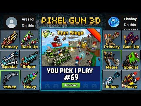 You Pick,I Play! #69 - Clan Siege Battle - Pixel Gun 3D