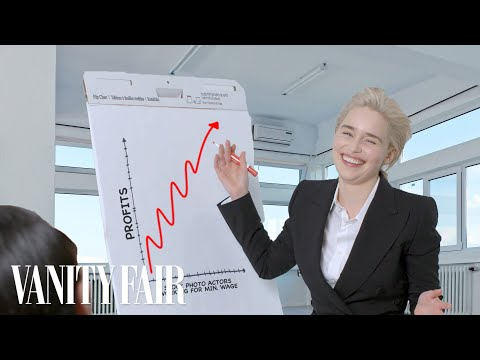 Emilia Clarke Recreates Stock Photos | Vanity Fair