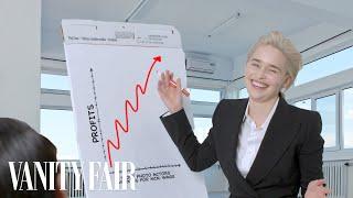 Emilia Clarke Re-Creates Stock Photos | Vanity Fair
