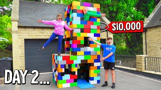LAST TO LEAVE 3 STORY LEGO HOUSE, KEEPS IT! - Challenge