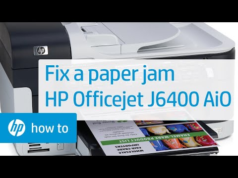 Fixing a Paper Jam - HP Officejet J6400 All-in-One Printer