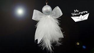 Süße Engel Basteln Zu Weihnachten Aus Geschenkbändern Z.B. Als Christbaumschmuck Oder Fensterschmuck