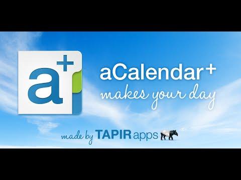 Video of aCalendar+ Calendar & Tasks