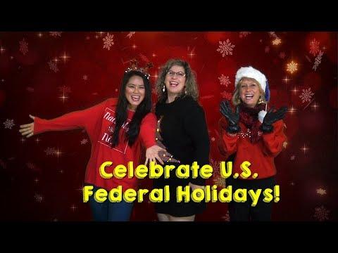 Learn American holidays 🎄🇺🇸🗽🎇 || Học ngày lễ của Hoa Kỳ || Vacaciones Americanas