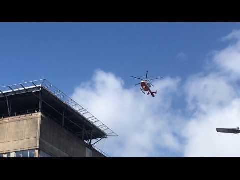 Air Ambulance Helicopter BRI Bristol Royal Infirmary