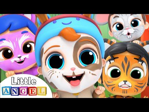 Let's do the Animal Dance   Face Paint Song   Little Angel Kids Songs