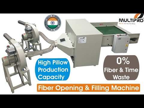 Polyester Fiber Opening Machine 200 kg Opening Capacity
