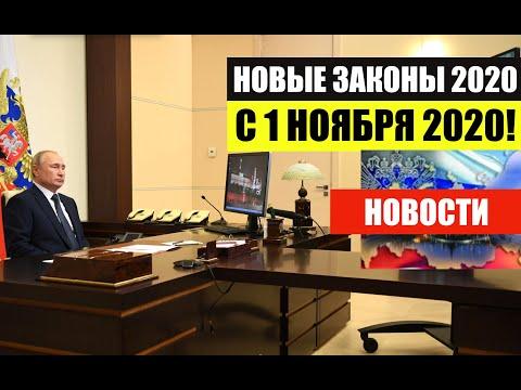 НОВЫЕ ЗАКОНЫ  В НОЯБРЕ 2020.   Изменения.  Новости.  юрист.  адвокат