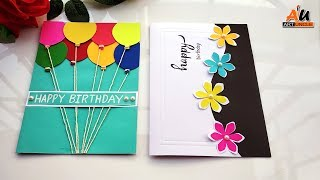 How To Make 2 Easy & Beautiful Handmade Happy Birthday Greeting Cards At Home