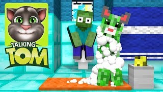Monster School : Talking Tom Challenge - Minecraft Animation
